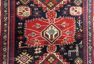 Antique Caucasian Shirvan Sahnazar Rug Size.235x120cm