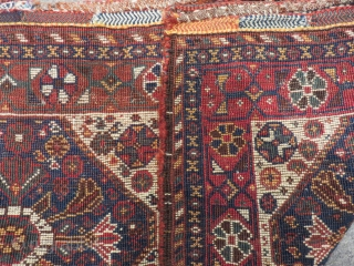 Antique Persian Shiraz Saddlebag Size.62x50=62x50 Cm