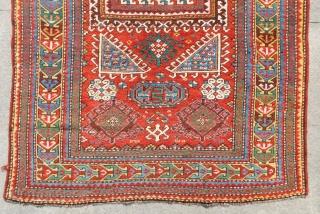 Antique Caucasian fachrola Prayer Rug All Colours Natural Size.190x115 Cm