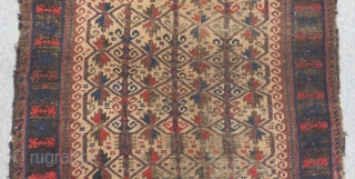 Antique Baluch Prayer Carpet Size.138x115cm