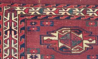 19th Century Türkmen Yamud Cuval Size.112x78cm