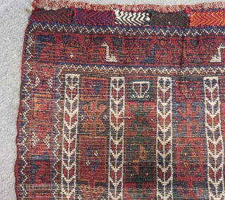 Antique Persian Kurdish Cuval Rug Size.125x80cm