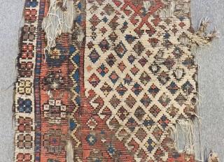 18th Century West Anatolian Karakeçili fragment RugSize.190x82cm