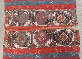 Second 19th C East Anatolian Malatya Cuval Size.180x110 Cm