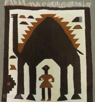 Arond 50-60 Years Old I Think Maroco Kilim Size.140x90 Cm