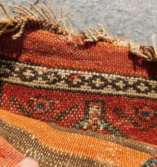 Antique Persian Kurdish Small Bag Circa 1870.80 Size.30x25 Cm