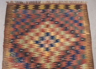 Antique Persian Kurdısh Kilim Size.240x146cm