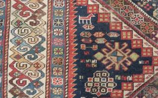 Antique Caucasian Şirvan Carpet Size.240x106cm