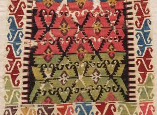Early 19th Century Central Anatolin Sivrihisar Small Kilim Very Beautiful Colors Size.175x100Cm