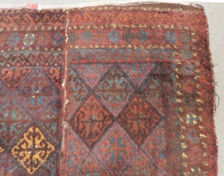 Antique Baluch Yatak orjinal two part Rug Size.190x155cm