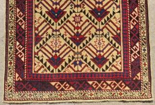 Antique Caucasian Avar Small Rug Size.114x82Cm