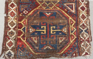 Earyl 18th Century Central Anatolian Karaman Fragment Rug Size.165x138cm