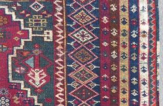Mid 19th Century East Anatolian Prayer Rug Size.160x98 Cm