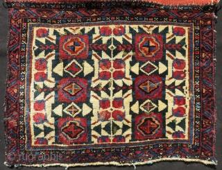 Antique Persian Kurdish Bagface Size.66x50 Cm