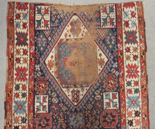 Mid 19th Century Persian Shahsevan fragment Rug Size.250x120 Cm