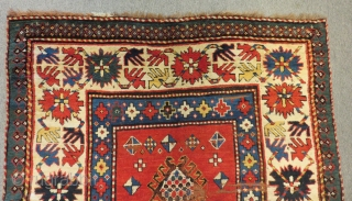 Antique Caucasian Borjalı Carpet Size.254x126cm
