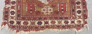 Antique West Anatolian Bergama fragment Carpet Size.100x90cm
