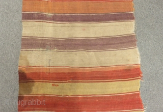 Antique Central Anatolian Kapatokya Striped Kilim One Part Size.350x90cm