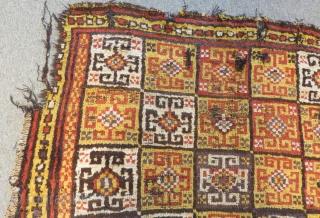 Antique Central Anatolian Konya Bozkır Carpet Size.170x144cm