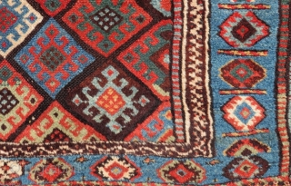 Antique Persian Jaff Bagface Size.100x64 Cm
