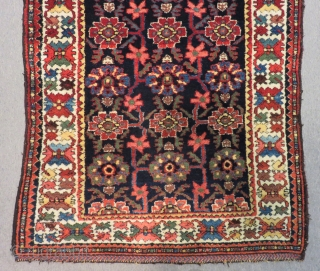 Second 19th Century Persian Kurdish Runner Rug All Colours Natural Size.307x110 Cm