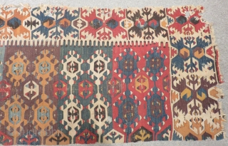 18th Century Anatolian Kilim one part Size.270x86cm