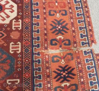 Antique Anatolian Carpet Size.340x110cm