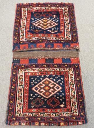 Antique Persian Shiraz Saddlebag Size.110x58cm
