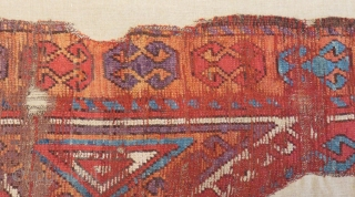 18th Centruy Central Anatolian Konya Carpet Fragment Size128x53cm