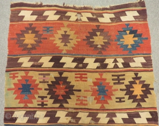 Early 19th Century Central Anatolian Aksaray  Kilim Size.260x112cm