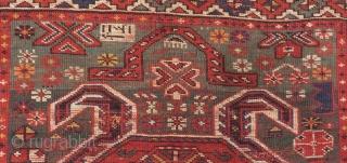 Antique Karabakh Lenkoren Prayer Rug Size.154x96 Cm