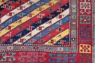 Antique Caucasian Aksafa Carpet Size.268x110cm