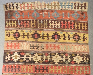 18th Century Central Anatolian Aksaray Kilim Size.380x155cm
