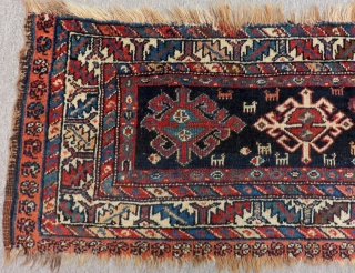 Antique Persian Veramin Mafrash Rug Size.100x42 Cm