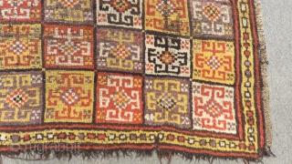 Mid 18th Century  Anatolian Konya Bozkır Rug Size.170x144 Cm