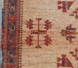 Antique Persian Avshar Rug Size.130x110 Cm