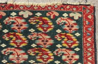 Antique Caucasian Zeyhur Small Rug Size.78x65cc