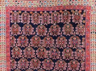 Antique Afshar Rug Size.136x126cm