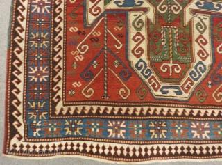 Antique Caucasian Sevan Rug Size.245x193Cm