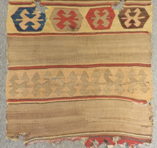 18th Century Anatolian Fragment Kilim Size.107x65 Cm
