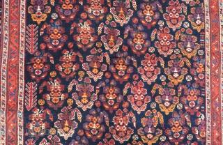 Antique  Persian Afshar Rug Size.176x128cm