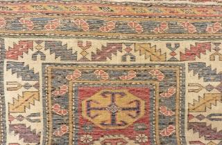 19th Century Second half Caucasian Kuba Shirvan Rug Size.260x92 Cm