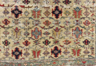 Early 19th Century Caucasian Chici Shirvan Rug.With Charing Colours.Size:130x105cm