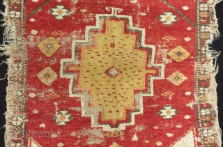 Early 19th Century Central Anatolian Konya Obruk Rug Size.135x120cm