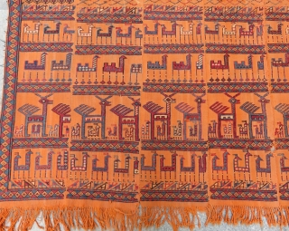 Antique Shahsavan Horse Cover Size.168x165 Cm