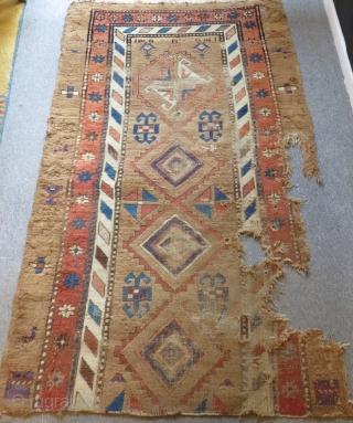 Antique Persian Serap Fragment Carpet Size.178x102cm