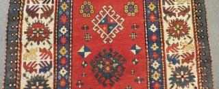 Antique Caucasian Borjalı Rug Size.254x126 Cm