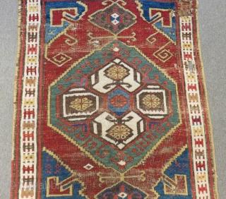 Antique 19Th Century Central Anatolian Karaman Carpet Size.398x120cm