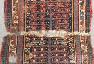 Antique Shahsavan Fragment Carpert Size.102x88cm