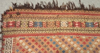 Antique Central Anatolian Karapınar Cecim Size.140x114cm